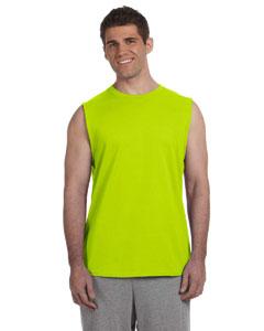 Safety Green Ultra Cotton® 6 oz. Sleeveless T-Shirt