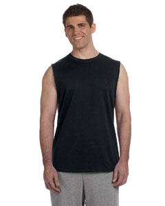 Black Ultra Cotton® 6 oz. Sleeveless T-Shirt