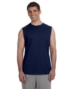Navy Ultra Cotton® 6 oz. Sleeveless T-Shirt