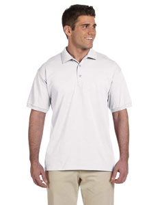 White Ultra Cotton® 6 oz. Jersey Polo
