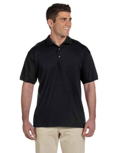 Black Ultra Cotton® 6 oz. Jersey Polo