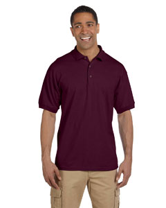 Maroon Ultra Cotton® 6.5 oz. Pique Polo