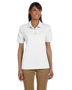 White Women's 6.5 oz. Ultra Cotton™ Piqué Polo