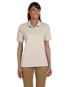 Sand Women's 6.5 oz. Ultra Cotton™ Piqué Polo