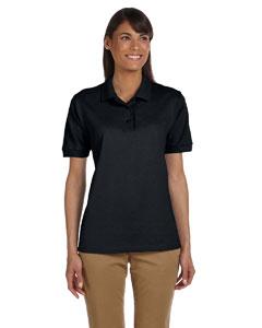 Black Women's 6.5 oz. Ultra Cotton™ Piqué Polo