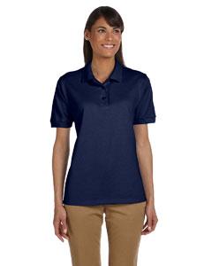 Navy Women's 6.5 oz. Ultra Cotton™ Piqué Polo