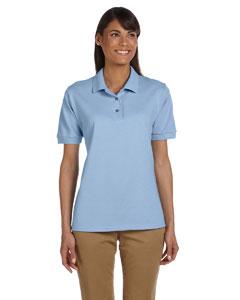 Light Blue Women's 6.5 oz. Ultra Cotton™ Piqué Polo