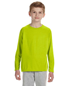 Safety Green Performance™ Youth 4.5 oz. Long-Sleeve T-Shirt