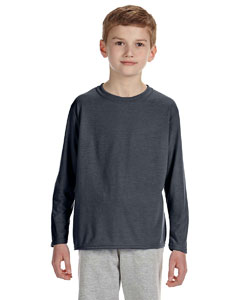 Charcoal Performance® Youth 4.5 oz. Long-Sleeve T-Shirt