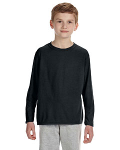 Black Performance® Youth 4.5 oz. Long-Sleeve T-Shirt