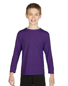 Purple Performance® Youth 4.5 oz. Long-Sleeve T-Shirt