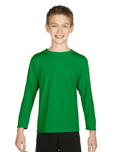 Irish Green Performance™ Youth 4.5 oz. Long-Sleeve T-Shirt