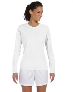 White Women's 4.5 oz. Performance Long-Sleeve T-Shirt