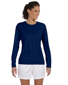Navy Women's 4.5 oz. Performance Long-Sleeve T-Shirt