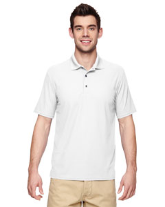 White Performance® Adult 5.6 oz. Double Piqué Polo