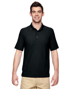 Black Performance® Adult 5.6 oz. Double Piqué Polo