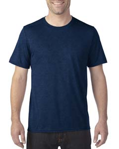Marbled Navy Adult Tech Short-Sleeve T-Shirt