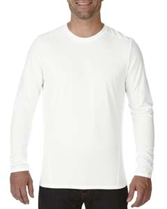 White Adult Tech Long-Sleeve T-Shirt