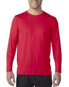 Red Adult Tech Long-Sleeve T-Shirt