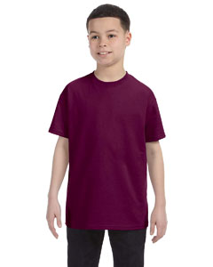 Maroon Heavy Cotton™ Youth 5.3 oz. T-Shirt