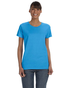 Heather Sapphire Women's 5.3 oz. Heavy Cotton Missy Fit T-Shirt