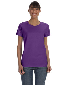Purple Women's 5.3 oz. Heavy Cotton Missy Fit T-Shirt