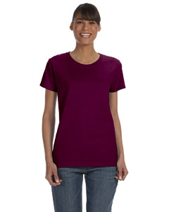 Maroon Women's 5.3 oz. Heavy Cotton Missy Fit T-Shirt