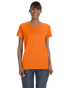 Safety Orange Women's 5.3 oz. Heavy Cotton Missy Fit T-Shirt