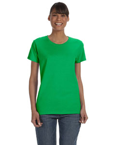 Electric Green Women's 5.3 oz. Heavy Cotton Missy Fit T-Shirt