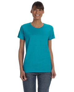 Tropical Blue Women's 5.3 oz. Heavy Cotton Missy Fit T-Shirt