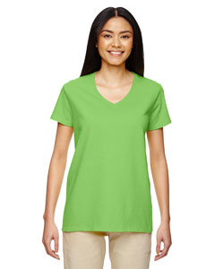 Lime Heavy Cotton™ Ladies' 5.3 oz. V-Neck T-Shirt