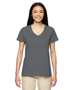 Charocal Heavy Cotton™ Ladies' 5.3 oz. V-Neck T-Shirt