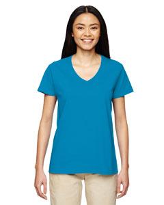 Sapphire Heavy Cotton™ Ladies' 5.3 oz. V-Neck T-Shirt