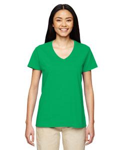 Irish Green Heavy Cotton™ Ladies' 5.3 oz. V-Neck T-Shirt