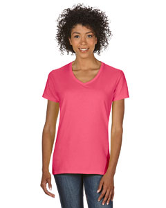 Coral Silk Heavy Cotton™ Ladies' 5.3 oz. V-Neck T-Shirt