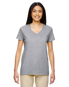 Sport Grey Heavy Cotton™ Ladies' 5.3 oz. V-Neck T-Shirt