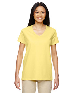 Cornsilk Heavy Cotton™ Ladies' 5.3 oz. V-Neck T-Shirt