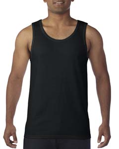 Black Heavy Cotton Tank Top