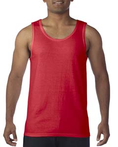 Red Heavy Cotton Tank Top