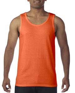 Orange Heavy Cotton Tank Top