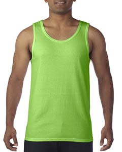 Neon Green Heavy Cotton Tank Top
