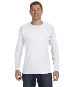 White Heavy Cotton™ 5.3 oz. Long-Sleeve T-Shirt