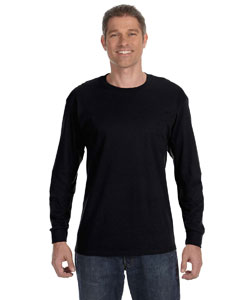 Black Heavy Cotton™ 5.3 oz. Long-Sleeve T-Shirt