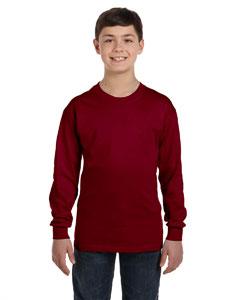 Garnet Heavy Cotton™ Youth 5.3 oz. Long-Sleeve T-Shirt