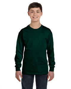 Forest Green Heavy Cotton™ Youth 5.3 oz. Long-Sleeve T-Shirt