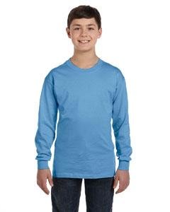 Carolina Blue Heavy Cotton™ Youth 5.3 oz. Long-Sleeve T-Shirt