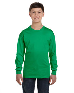 Irish Green Heavy Cotton™ Youth 5.3 oz. Long-Sleeve T-Shirt