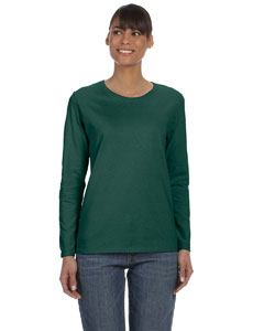 Forest Green Women's 5.3 oz. Heavy Cotton Missy Fit Long-Sleeve T-Shirt