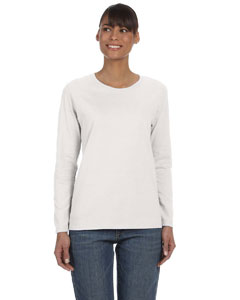 Ash Grey Women's 5.3 oz. Heavy Cotton Missy Fit Long-Sleeve T-Shirt