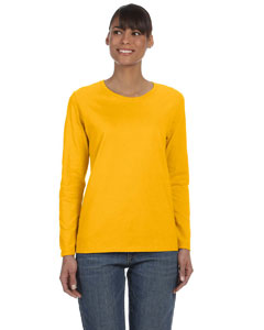 Gold Women's 5.3 oz. Heavy Cotton Missy Fit Long-Sleeve T-Shirt